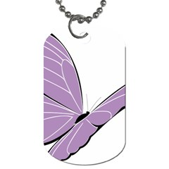 Purple Awareness Butterfly 2 Dog Tag (Two-sided)