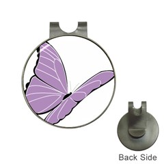 Purple Awareness Butterfly 2 Hat Clip with Golf Ball Marker