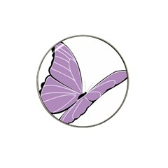 Purple Awareness Butterfly 2 Golf Ball Marker 4 Pack (for Hat Clip)