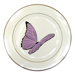 Purple Awareness Butterfly 2 Porcelain Display Plate