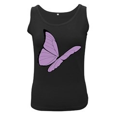Purple Awareness Butterfly 2 Women s Tank Top (Black)