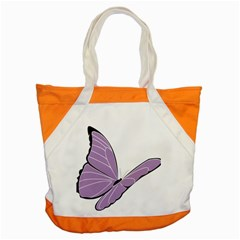 Purple Awareness Butterfly 2 Accent Tote Bag