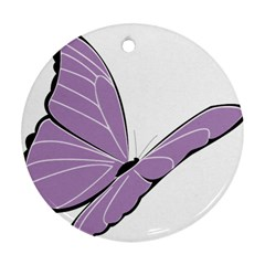 Purple Awareness Butterfly 2 Round Ornament (Two Sides)