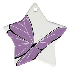 Purple Awareness Butterfly 2 Star Ornament (Two Sides)