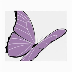Purple Awareness Butterfly 2 Glasses Cloth (small, Two Sided)