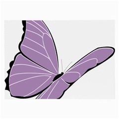 Purple Awareness Butterfly 2 Glasses Cloth (large, Two Sided)