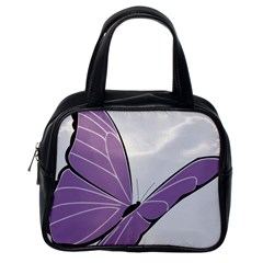 Purple Awareness Butterfly 2 Classic Handbag (one Side)