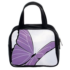 Purple Awareness Butterfly 2 Classic Handbag (Two Sides)