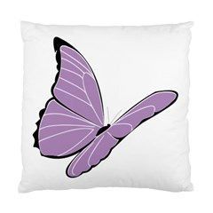 Purple Awareness Butterfly 2 Cushion Case (Two Sided)