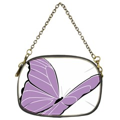 Purple Awareness Butterfly 2 Chain Purse (Two Sided)
