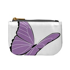 Purple Awareness Butterfly 2 Coin Change Purse