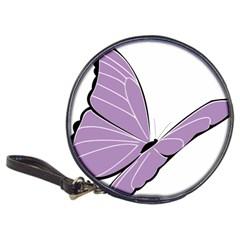 Purple Awareness Butterfly 2 CD Wallet