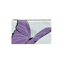 Purple Awareness Butterfly 2 Cosmetic Bag (Small)