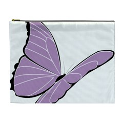 Purple Awareness Butterfly 2 Cosmetic Bag (XL)
