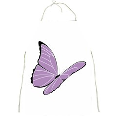 Purple Awareness Butterfly 2 Apron