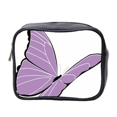 Purple Awareness Butterfly 2 Mini Travel Toiletry Bag (Two Sides)