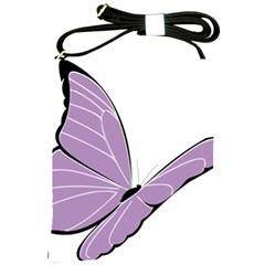 Purple Awareness Butterfly 2 Shoulder Sling Bag
