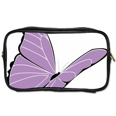 Purple Awareness Butterfly 2 Travel Toiletry Bag (Two Sides)