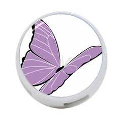 Purple Awareness Butterfly 2 4-Port USB Hub (Two Sides)