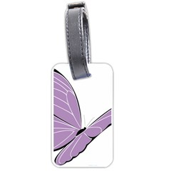 Purple Awareness Butterfly 2 Luggage Tag (One Side)