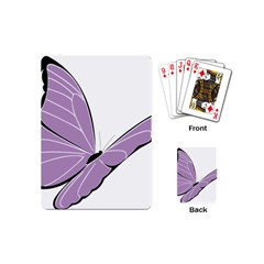 Purple Awareness Butterfly 2 Playing Cards (mini)