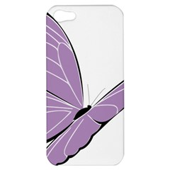 Purple Awareness Butterfly 2 Apple Iphone 5 Hardshell Case