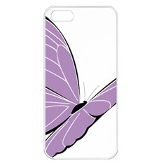 Purple Awareness Butterfly 2 Apple Iphone 5 Seamless Case (white)