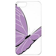 Purple Awareness Butterfly 2 Apple iPhone 5 Classic Hardshell Case