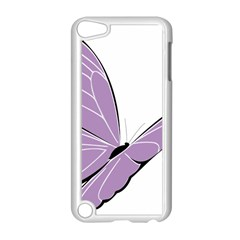 Purple Awareness Butterfly 2 Apple iPod Touch 5 Case (White)