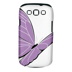 Purple Awareness Butterfly 2 Samsung Galaxy S III Classic Hardshell Case (PC+Silicone)