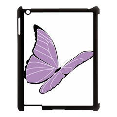 Purple Awareness Butterfly 2 Apple Ipad 3/4 Case (black)