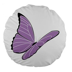 Purple Awareness Butterfly 2 18  Premium Round Cushion
