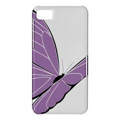Purple Awareness Butterfly 2 BlackBerry Z10 Hardshell Case