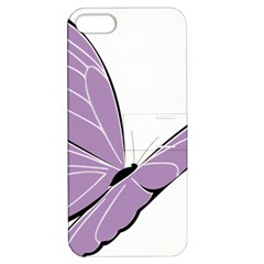 Purple Awareness Butterfly 2 Apple iPhone 5 Hardshell Case with Stand