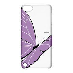 Purple Awareness Butterfly 2 Apple iPod Touch 5 Hardshell Case with Stand
