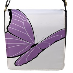 Purple Awareness Butterfly 2 Removable Flap Cover (Small)