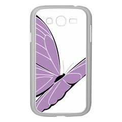 Purple Awareness Butterfly 2 Samsung Galaxy Grand DUOS I9082 Case (White)