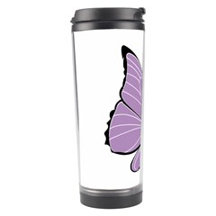 Purple Awareness Butterfly 2 Travel Tumbler
