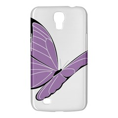 Purple Awareness Butterfly 2 Samsung Galaxy Mega 6.3  I9200 Hardshell Case