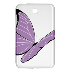 Purple Awareness Butterfly 2 Samsung Galaxy Tab 3 (7 ) P3200 Hardshell Case