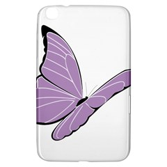 Purple Awareness Butterfly 2 Samsung Galaxy Tab 3 (8 ) T3100 Hardshell Case