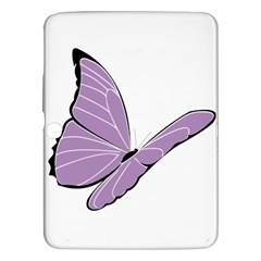 Purple Awareness Butterfly 2 Samsung Galaxy Tab 3 (10 1 ) P5200 Hardshell Case