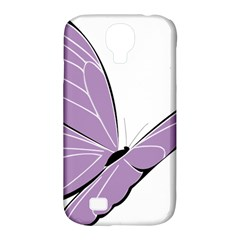 Purple Awareness Butterfly 2 Samsung Galaxy S4 Classic Hardshell Case (PC+Silicone)