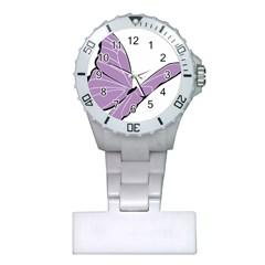 Purple Awareness Butterfly 2 Nurses Watch