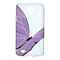 Purple Awareness Butterfly 2 Samsung Galaxy S4 Active (I9295) Hardshell Case