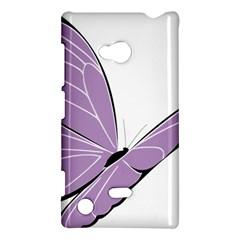 Purple Awareness Butterfly 2 Nokia Lumia 720 Hardshell Case