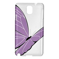 Purple Awareness Butterfly 2 Samsung Galaxy Note 3 N9005 Hardshell Case