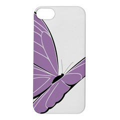 Purple Awareness Butterfly 2 Apple iPhone 5S Hardshell Case