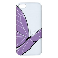 Purple Awareness Butterfly 2 iPhone 5S Premium Hardshell Case