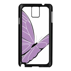 Purple Awareness Butterfly 2 Samsung Galaxy Note 3 N9005 Case (Black)